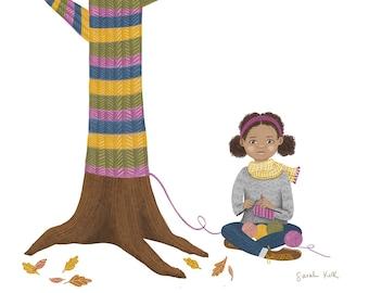 Sweater Tree - Art Print - 8x10