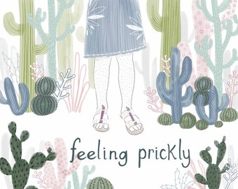 Feeling Prickly - 4x5.5 Notecards - Set of 4