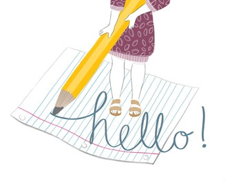 Hello! - 4x5.5 Notecards - Set of 4