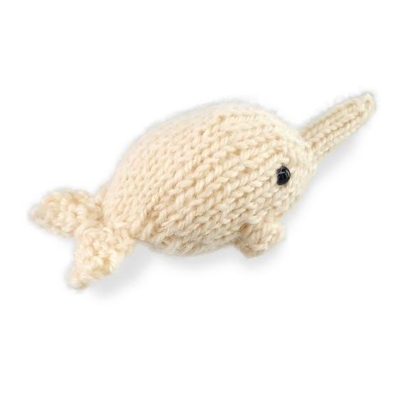 Knitting Pattern Animals Dolphin And Narwhal Knitting Etsy