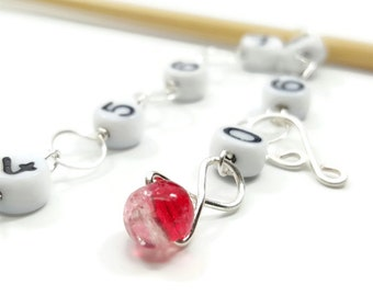 Cherry Ice Knitting Row Counter - Chain Counter - Counts up to 100 rows - Choose Small, Medium, Large, or XL
