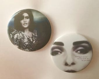 """Siouxsie Sioux 2.25"""" buttons - Set of 2"""