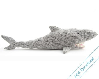 Shark Knitting Pattern. Knit Your Own Jaws. PDF Download.