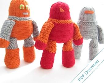 Robot Knitting Pattern Download. DIY Cuddly Robot.