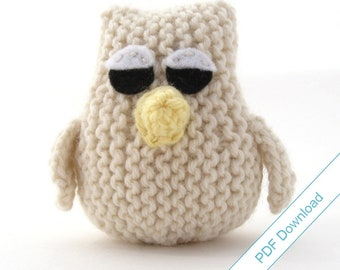 Owl Knitting Pattern PDF Download. Knit Your Own Owlet.