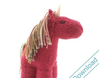 Horse or Unicorn or Pegasus Knitting Pattern