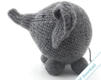 Knitting Pattern Toy Elephant. PDF Download.
