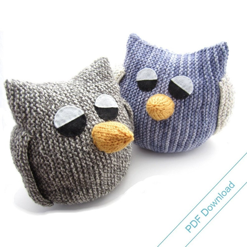 Knitting Pattern for Big Owl. Stuffed Toy or Pajama Case image 0