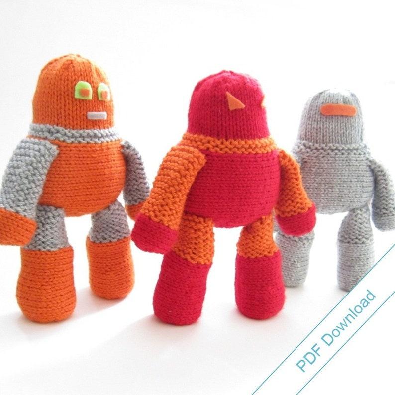 Robot Knitting Pattern Download. DIY Cuddly Robot. image 1