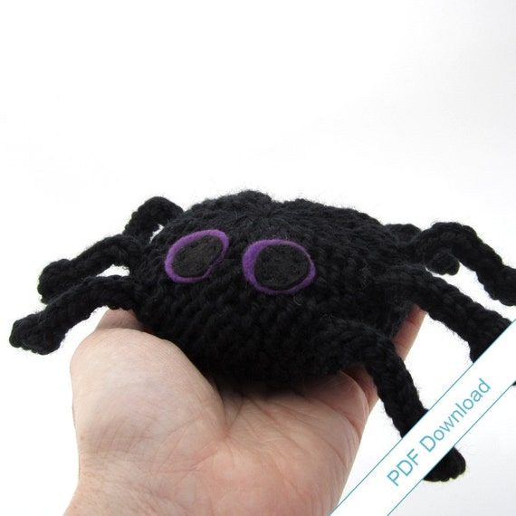 Spider Knitting Pattern Pdf Knit Your Own Toy Spider Etsy