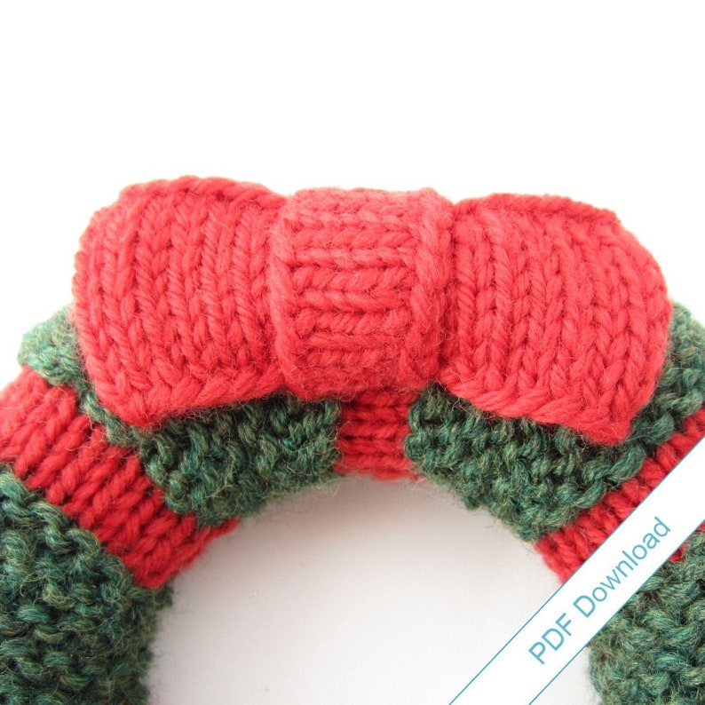DIY Holiday Decor Wreath Pattern PDF. Knit Your Own image 1