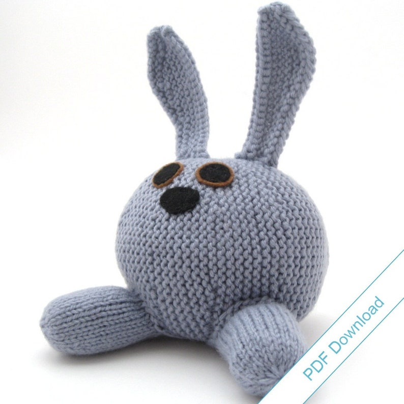Knit Pattern PDF Download. Rabbit. Knit Your Own Bunny. image 1