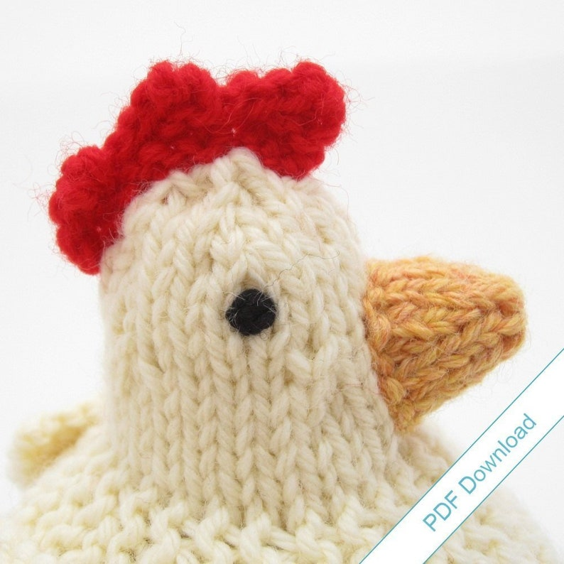 Knitting Pattern PDF. Knit Your Own Mother Hen. image 0