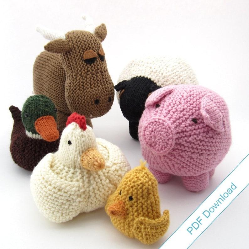 Knitting Patterns eBook. Farm Animal Toys. Around the image 1