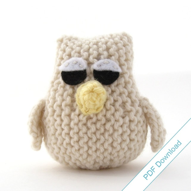 Owl Knitting Pattern Pdf Download Knit Your Own Owlet Etsy