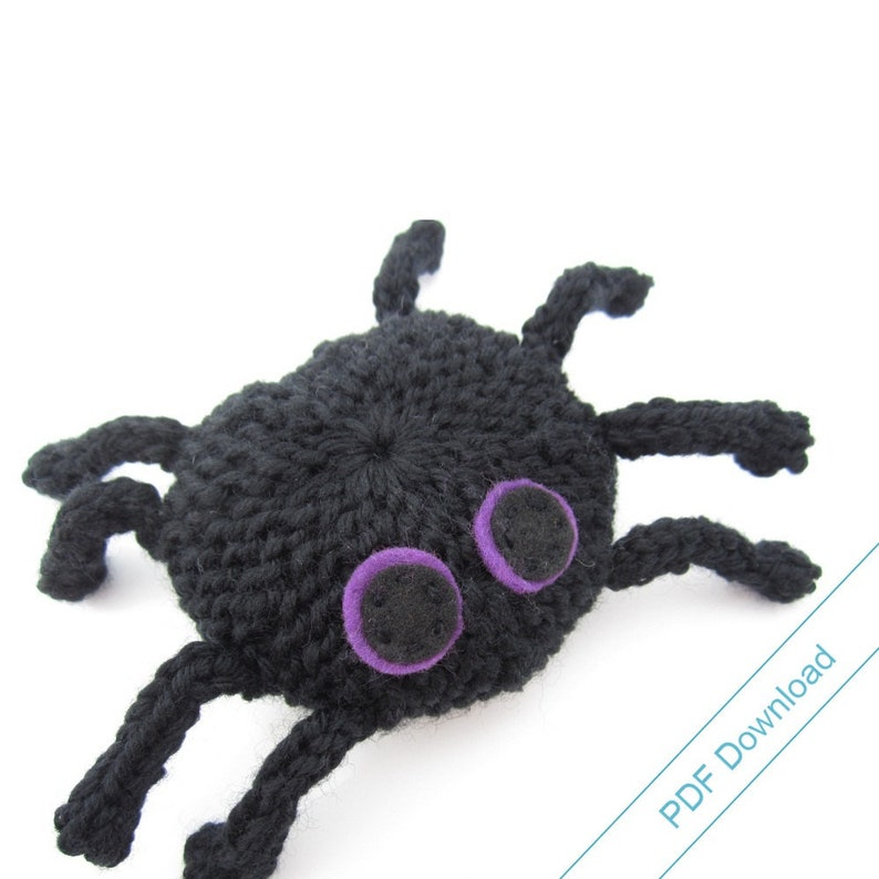 Spider Knitting Pattern PDF. Knit Your Own Toy Spider. image 0