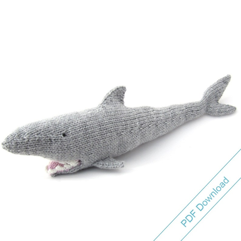 Shark Knitting Pattern. Knit Your Own Jaws. PDF Download ...