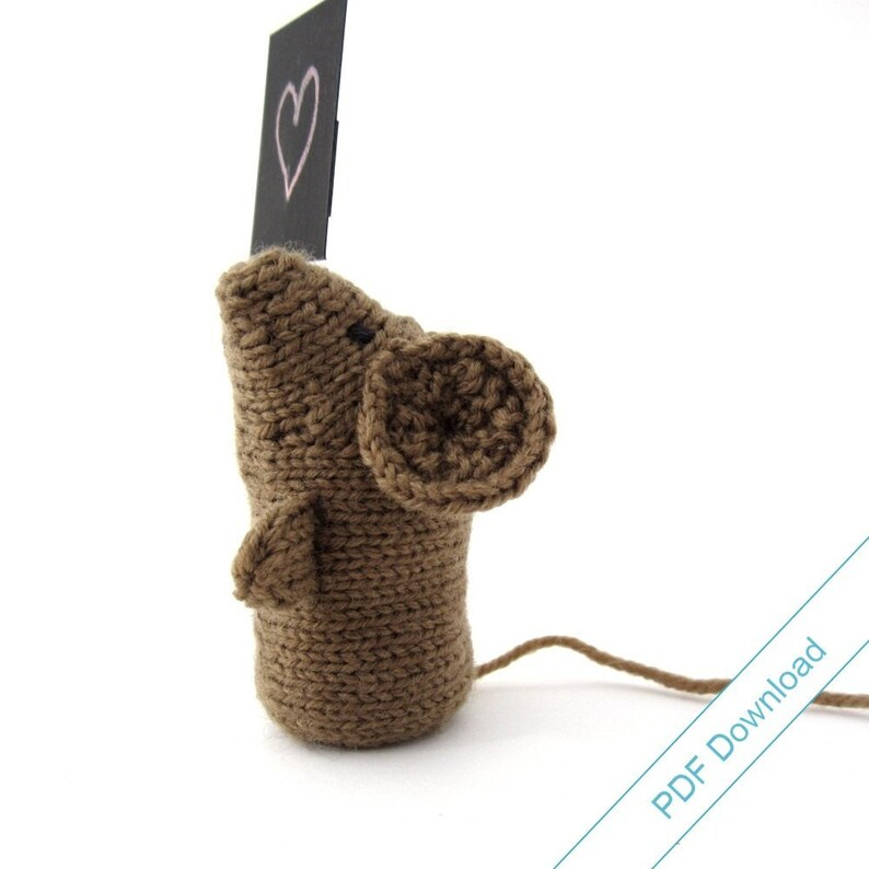 Mouse Knitting Pattern Download. Knit Your Own Small Creature image 0