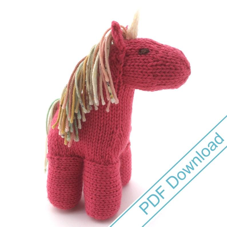 Horse or Unicorn or Pegasus Knitting Pattern image 0
