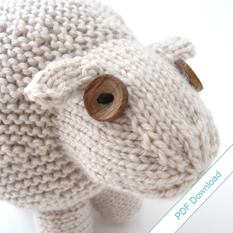 Knitting Pattern PDF. Toy Sheep. Knit Your Own Flock. image 0
