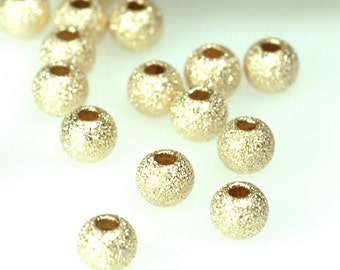 25pcs of 3mm 14K Gold Filled STARDUST round ball beads