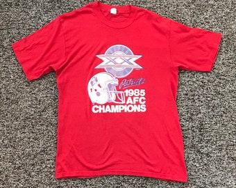 Vintage 1985 Patriots AFC Champions T Shirt a0dee115d