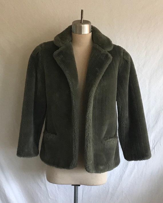 1980s Does 1940s VIOLA SYLBERT Soft Grey Faux Fur