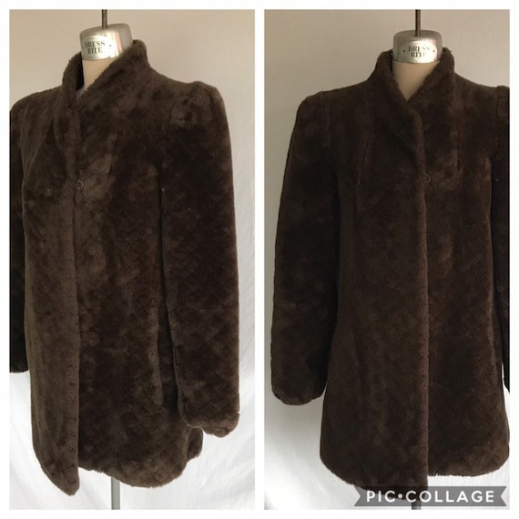 1970s Does 1940s Glam Soft Faux Fur Milk Chocolate