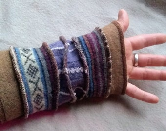 Upcycled Cashmere-lined Fingerless Arm-Warmers