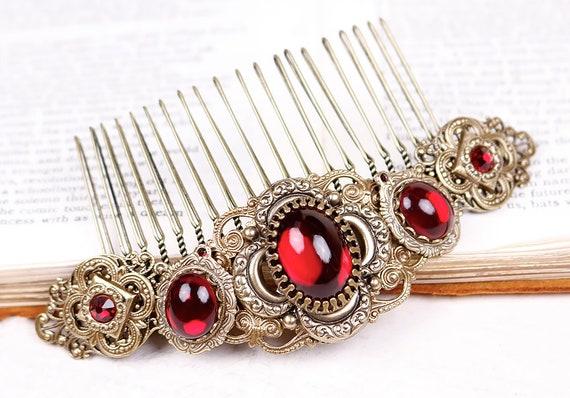 Rote Haare Kammen Viktorianische Braut Accessoire Etsy