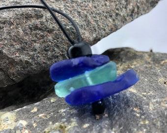 Beach Glass Jewelry | Cobalt Beach Glass | Nature Lover Gift | Cairn Necklace | Beach Glass Pendant | Recycled Beach Glass  | Jewelry Gifts