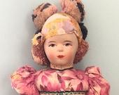 Vintage Russian Folk Art Doll