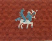 Centaur or Sagittarius Vintage Seersucker Fabric