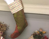 Christmas Stocking/ Upcycled Christmas Stocking / Maximalist Christmas Stocking