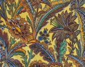 "Vintage 1970s Cohama ""Taj"" Fabric, 1970s Flower Power Fabric, Vintage Jacobean Fabric"