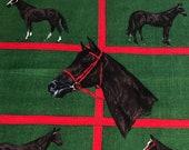 "Vintage 1968 Greeff ""Haras"" Fabric Sample, Greeff Haras Fabric Sample, Greeff Horse fabric, horse fabric, equestrian fabric"