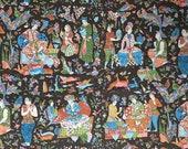 Vintage 1960s Brunschwig & Fils Moghal Fabric Sample, Brunschwig and Fils Royal East Indian Print, Brunschwig and Fils Chinoiserie
