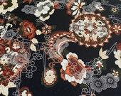 Vintage 1970s Paisley Poly Nylon Stretch Jersey Fabric, 1970s Paisley Polyester Fabric, Vintage Paisley Fabric, Paisley Fabric