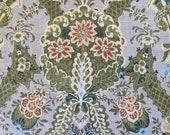 Vintage 1980s Linen Fabric Sample, Vintage Indienne Linen, Indienne Fabric