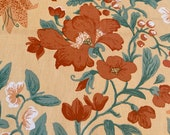 "Vintage 1981 Bailey & Griffin ""Urupan"" Fabric Sample, Vintage Bailey and Griffin Peach Floral Fabric, Vintage Fabric"