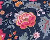 """Vintage 1979 Bassett McNab Janet Cornell """"Landsbury"""" Fabric Sample, Vintage Janet Cornell Landsbury Fabric, Vintage Linen Fabric"""