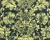 Vintage 1960s Scalamandré Tela Batik Fabric Sample, Vintage Scalamandré Fabric, Vintage Fabric Sample