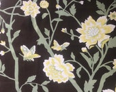 Vintage 1975 Kent Bragaline Floral Fabric Sample, Vintage Cotton Floral Fabric Sample
