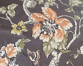 "Vintage 1960s Schumacher ""Trade Winds"" Fabric Sample, Vintage Schumacher Trade Winds Fabric, Schumacher Fabric"