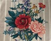 Vintage 1980s Floral Westgate Fabric Sample, Chintz Floral Fabric Sample, 1980s Fabric Sample, Westgate Fabrics