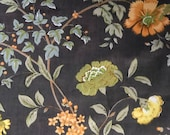 Vintage 1980 Bailey & Griffin Floral Fabric Sample, Bailey and Griffin Fabric Sample, Vintage Fabric Sample
