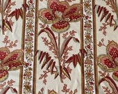 Vintage 1960s Gabrielle Cie Indienne Chintz Fabric, Vintage 1960s Gabrielle Cie Floral and Grasses Chintz Fabric, Vintage Indienne Fabric