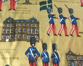 """Vintage 1969 Schumacher """"Changing of the Guard"""" Fabric Sample, Vintage Schumacher Changing of the Guard Fabric, Danish Palace Fabric"""