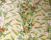 Vintage 1970s Greeff Countryside Fabric Sample, Greeff Fabric The Woods and Meadows Collection Sample, English Fabric Sample