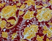 """Vintage 1960s Cohama Fabrics """"Valetta"""" Floral Batik Fabric, 1960s Cohama Fabrics Batik Style Fabric, Cohama Valetta Fabric"""